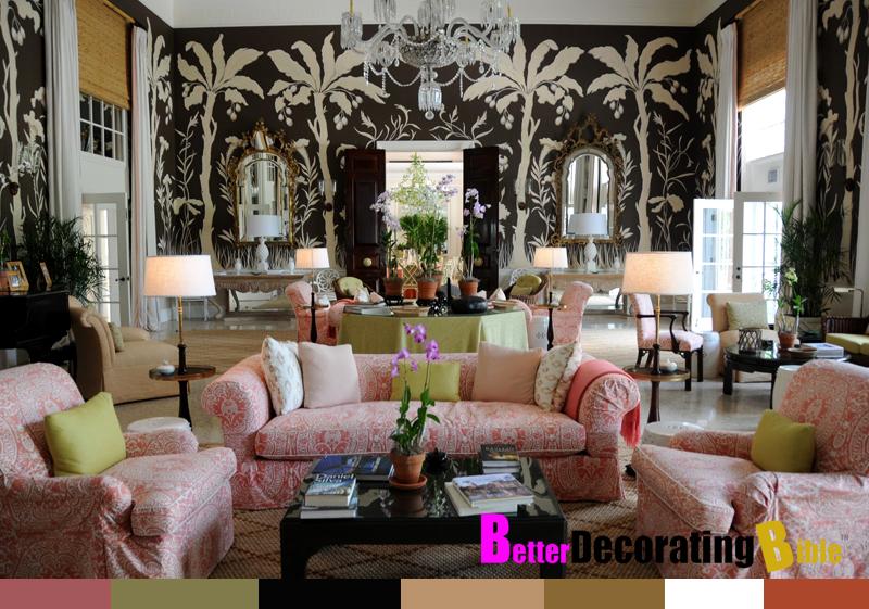 Betterdecoratingbible: Tropical Twist: Unique Black And White Wallpaper
