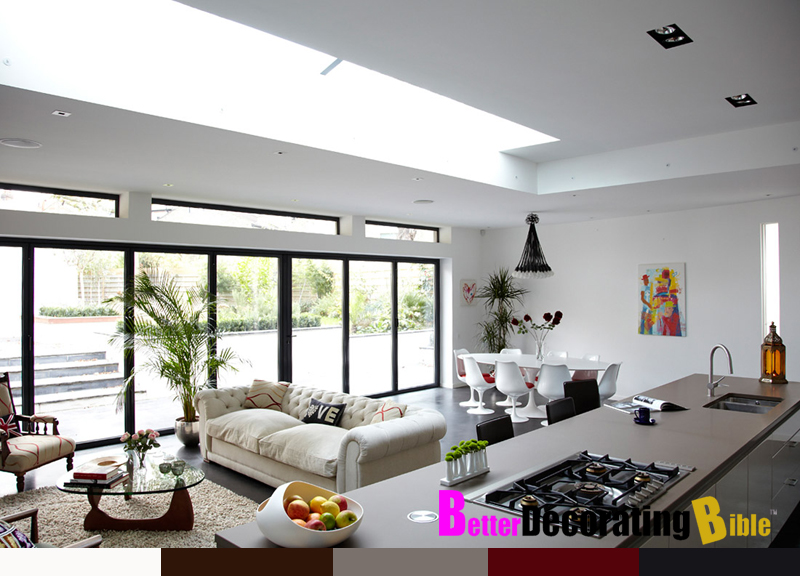 Decorating open plan living dining and kitchens interior Living and dining room together small spaces