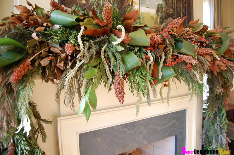 DIY Friday  Easy Christmas Mantel Decorating