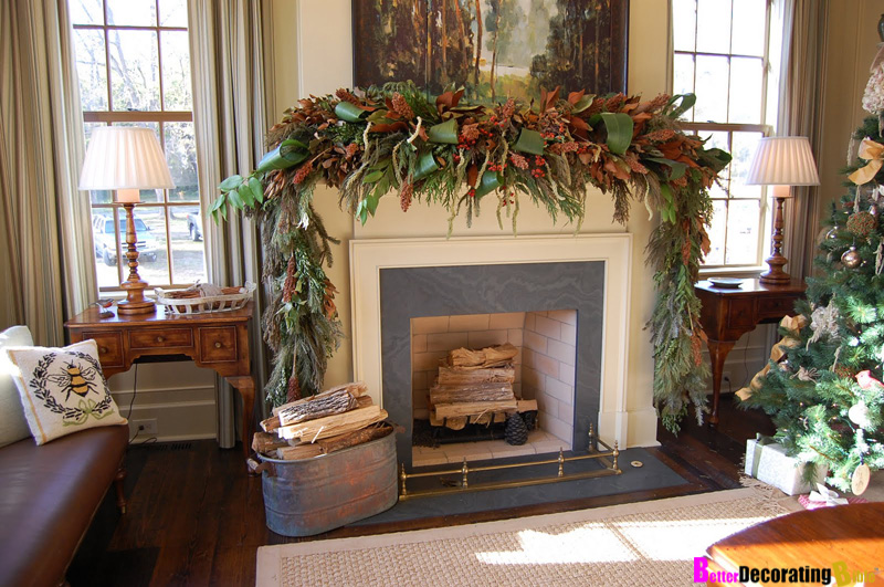 Diy friday easy christmas mantel decorating Christmas interior decorating ideas