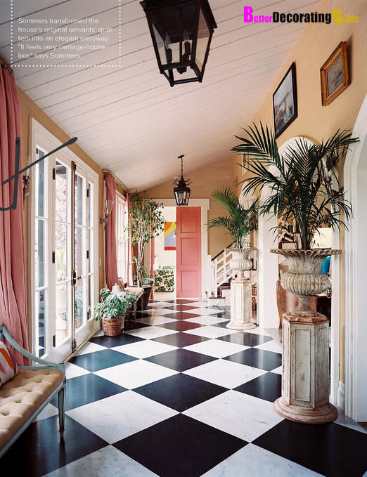 Classic Checkered Black and White Floors