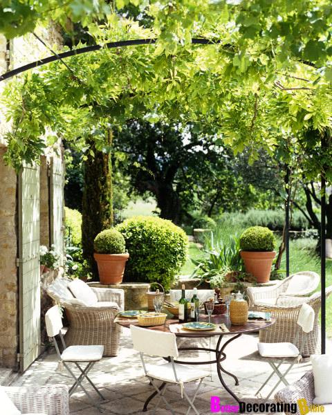 Interior decorating design ideas inspirations photos for Garden getaway designs