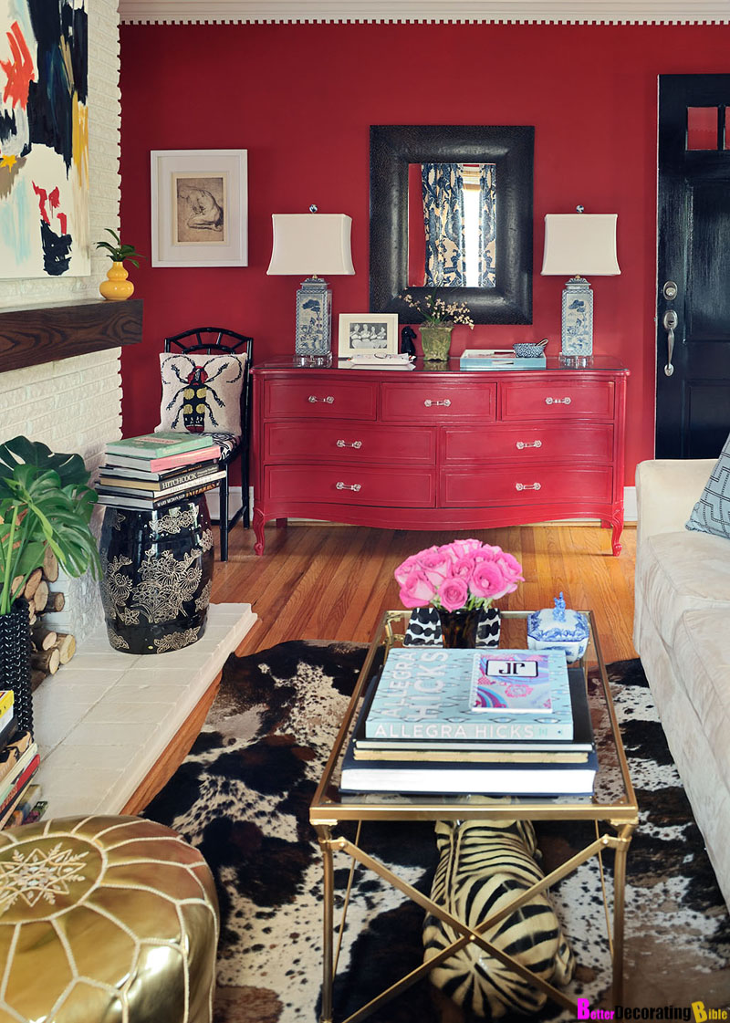 Asian Inspiration: Hot China Red Living Room