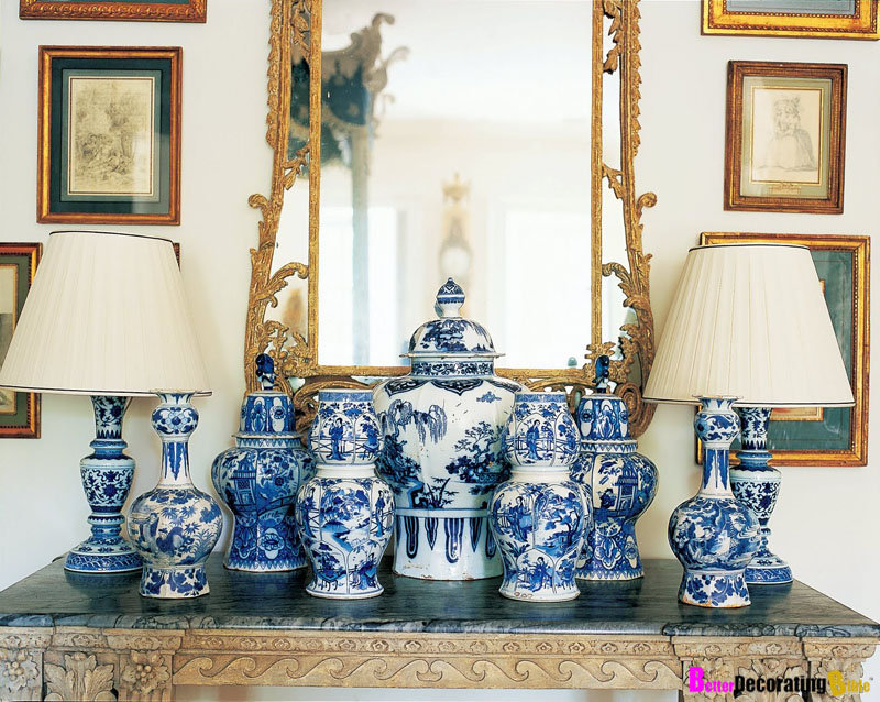 Add an Exotic Twist with Blue and White China