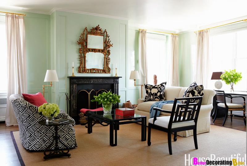 Mint walls family room pinterest for Statement wallpaper living room