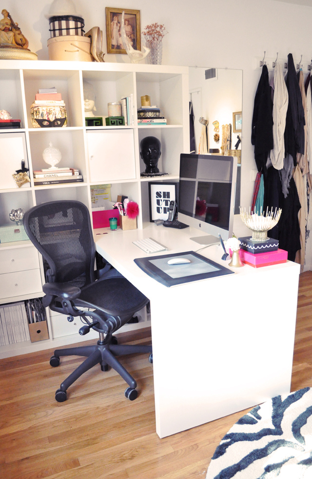 Get to work in style meagan s home office tour How to decorate a home office