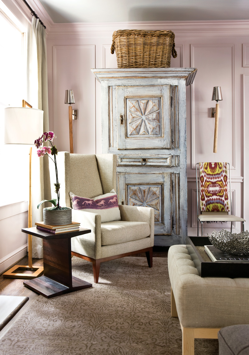 Suzy q, better decorating bible, best, top, interior, design, blog, Atlanta  homes mag, mansion, wood, paneling, violet, color palette, girly, cream,  colors, ...