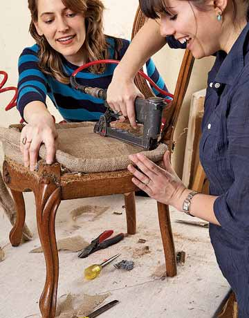 DIY Friday How To Reupholster A Louis XVI Chair BetterDecoratingBibleBette