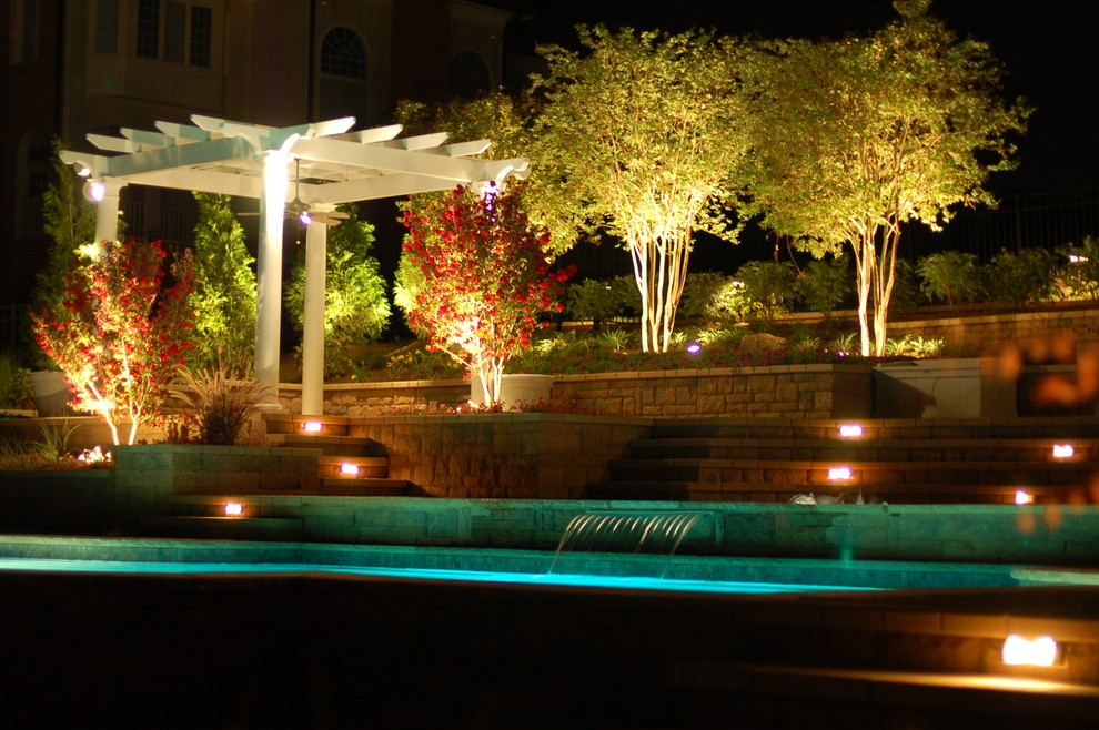 land and water design outdoor lighting walkway better decorating bible blog traditional-pool