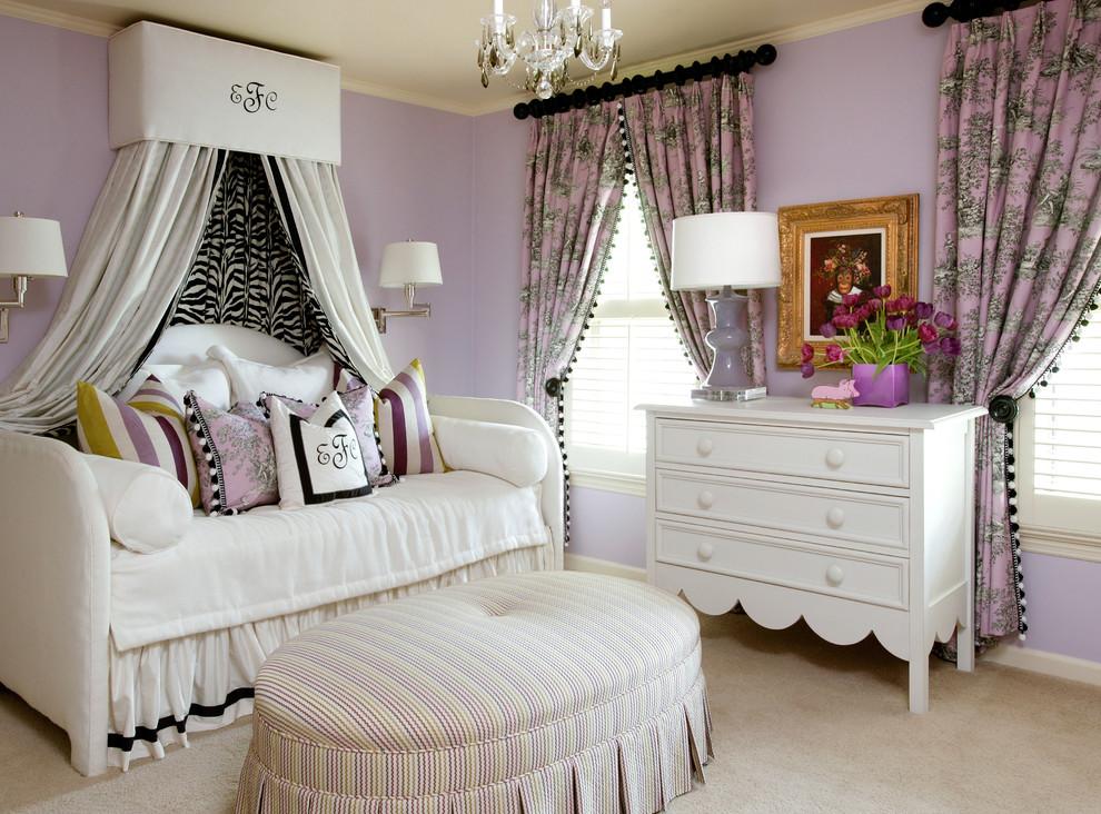 tobi fairely toile purple day bed posh zebra canopy better decorating bible blog childrens girls roomtraditional-bedroom
