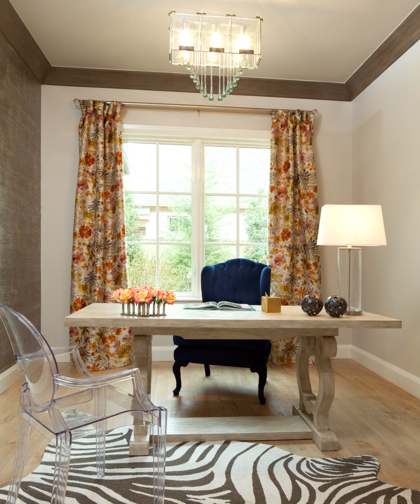 Eclectic Home Office finally focused - how to design the ideal home office and get back