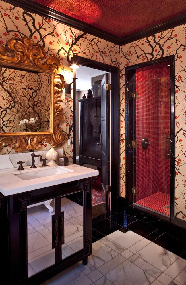 10 amazing bathroom wallpaper ideas and tricks for Funky bathroom wallpaper ideas