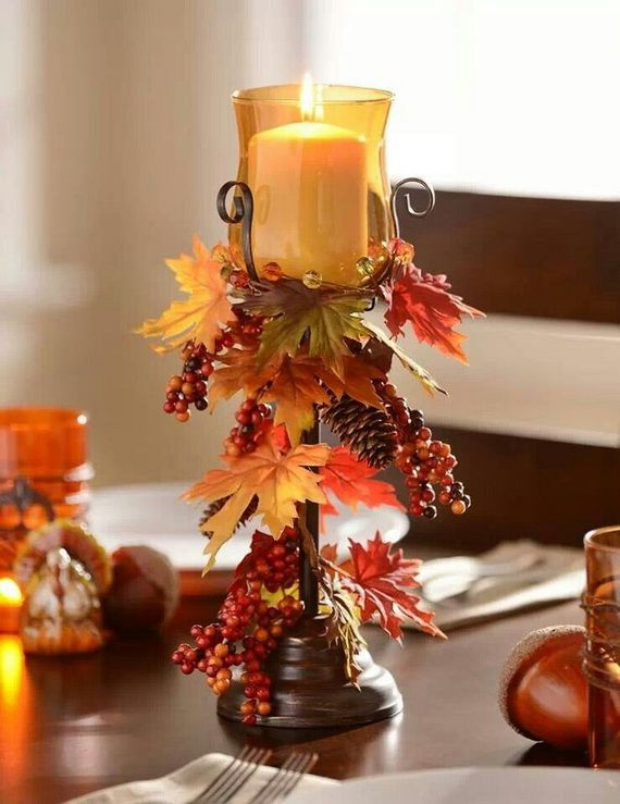 Good ... 8327746258f82d950d14cff26084dcfe 4 Easy Thanksgiving Decor Table How To  Candles Centerpiece Fall Leaves Pumpkins Squashes Dinin Table Front ...