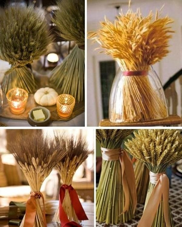 7 Easy Thanksgiving Decor Table How To Candles Centerpiece Fall Leaves  Pumpkins Squashes Dinin Table Front