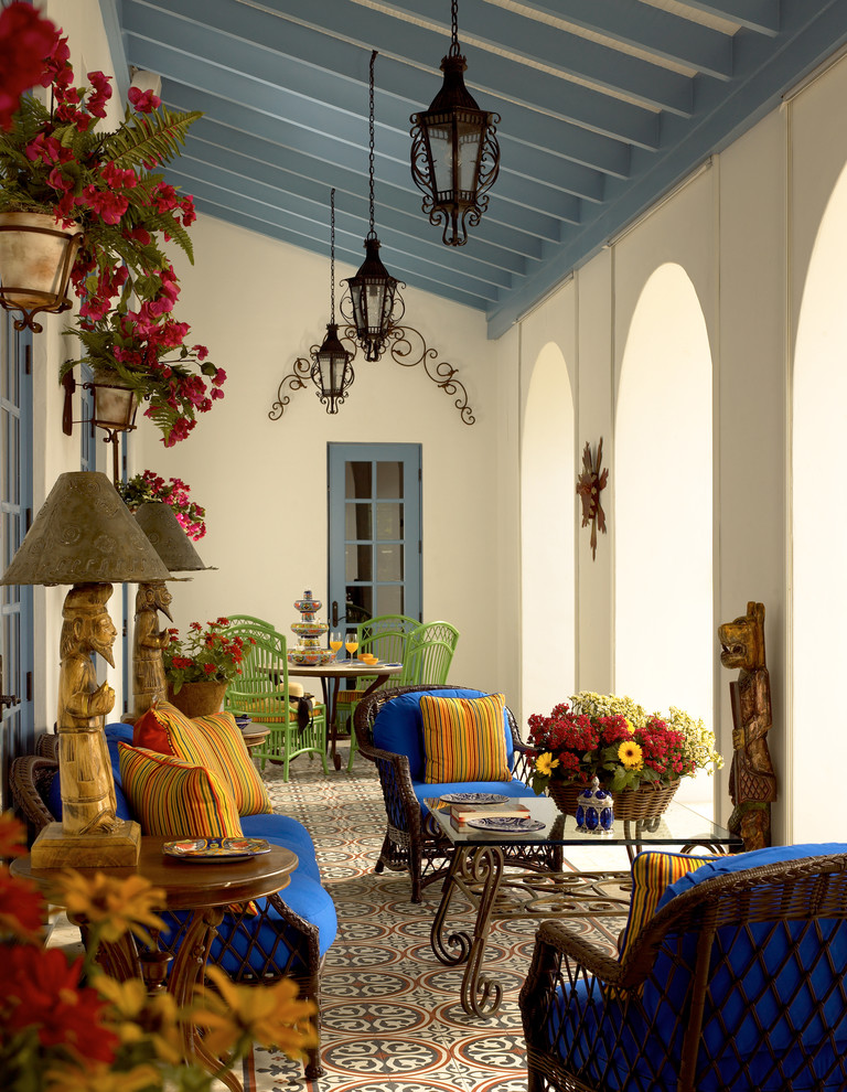 Gil walsh interiors colorful tuscan mediterranean better Spanish home decorating styles