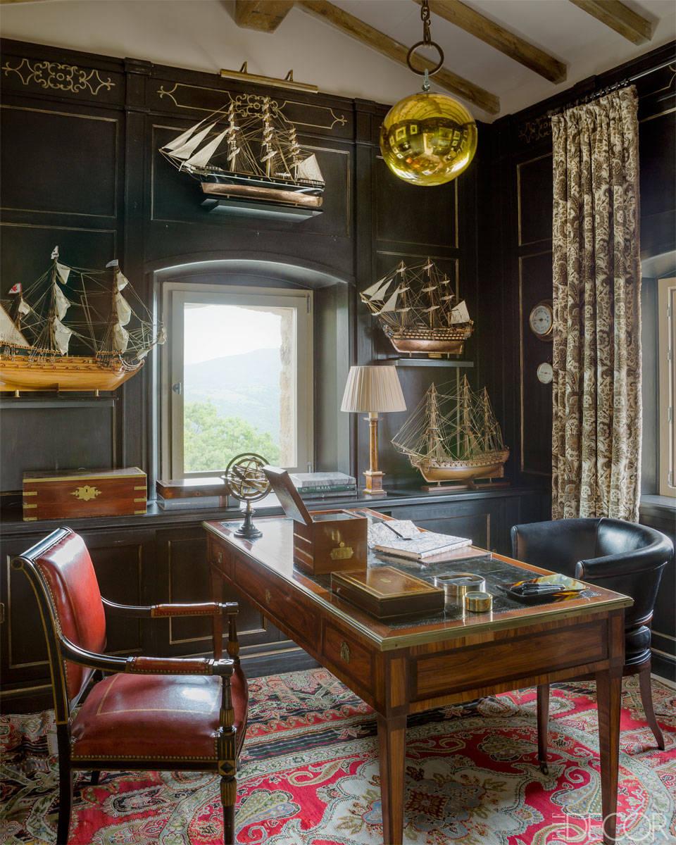 presidential rug oriental persian office black paneled walls