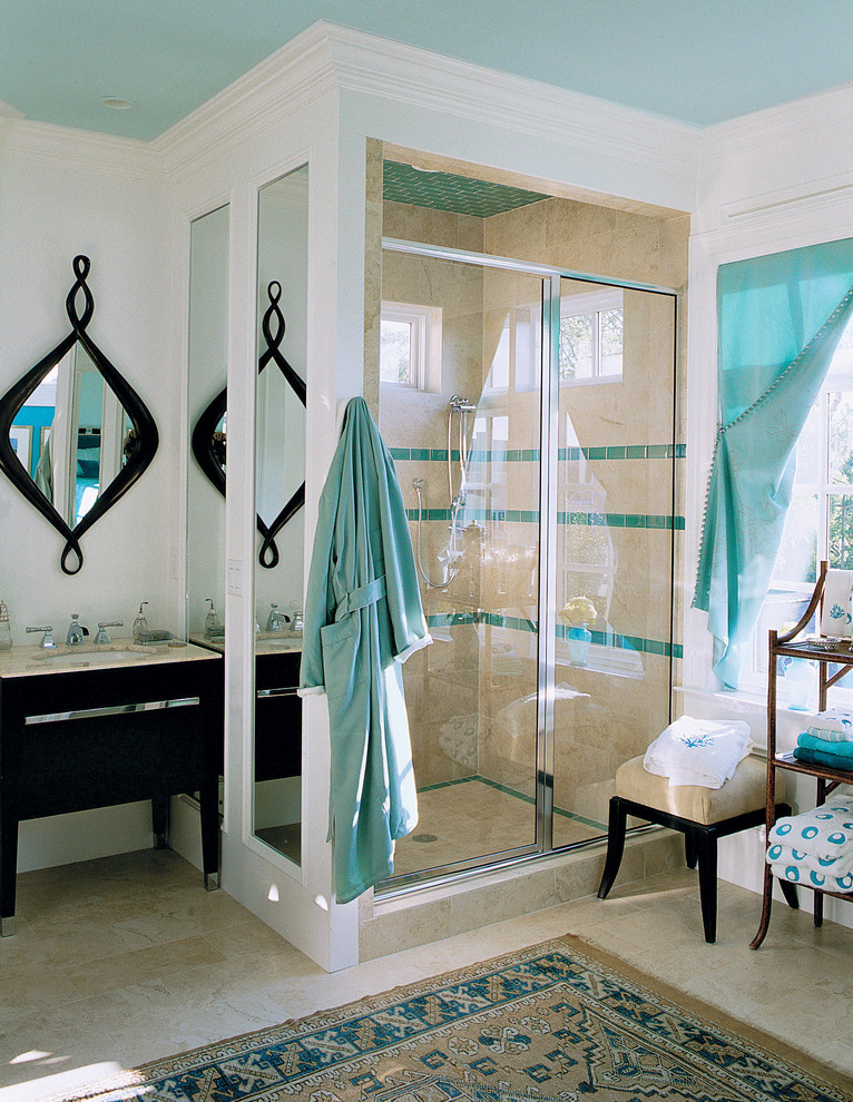 tobi fairely bathroom turqoiuse blue ceiling decor