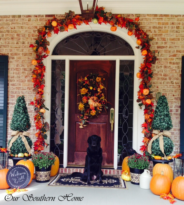 Perfect Fall Home Decorating Pumpkins Porch Leaves Door Wreath Easy Better  Decorating Bible Blog