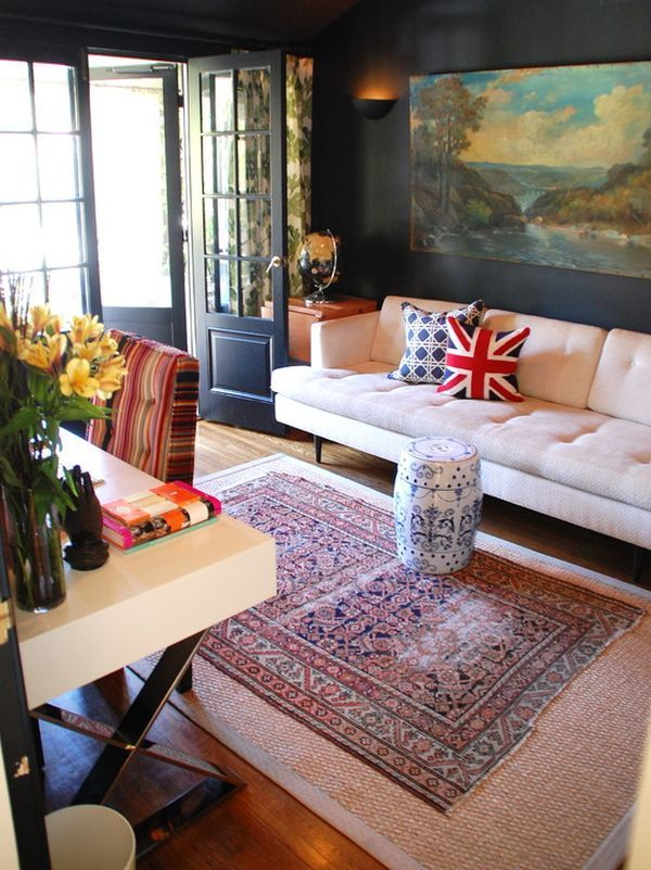 persian rug decorating ideas union jack pillows