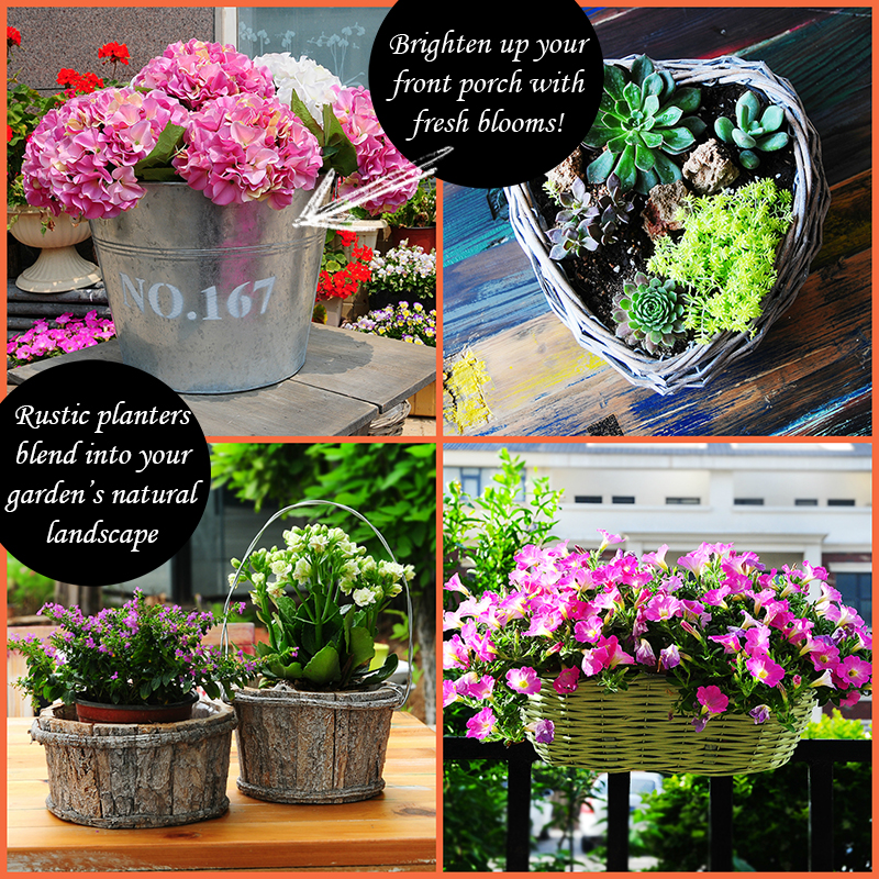 Rustic Planters Mesbuy Online One Stop Shop Store Interior Home Decor  Accessories Garden Outdoor Living Flower