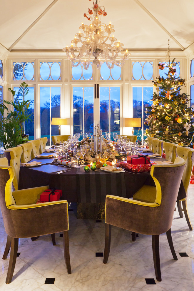 Decorate like this for the holidays and you ll definitely for Conservatory dining room design ideas