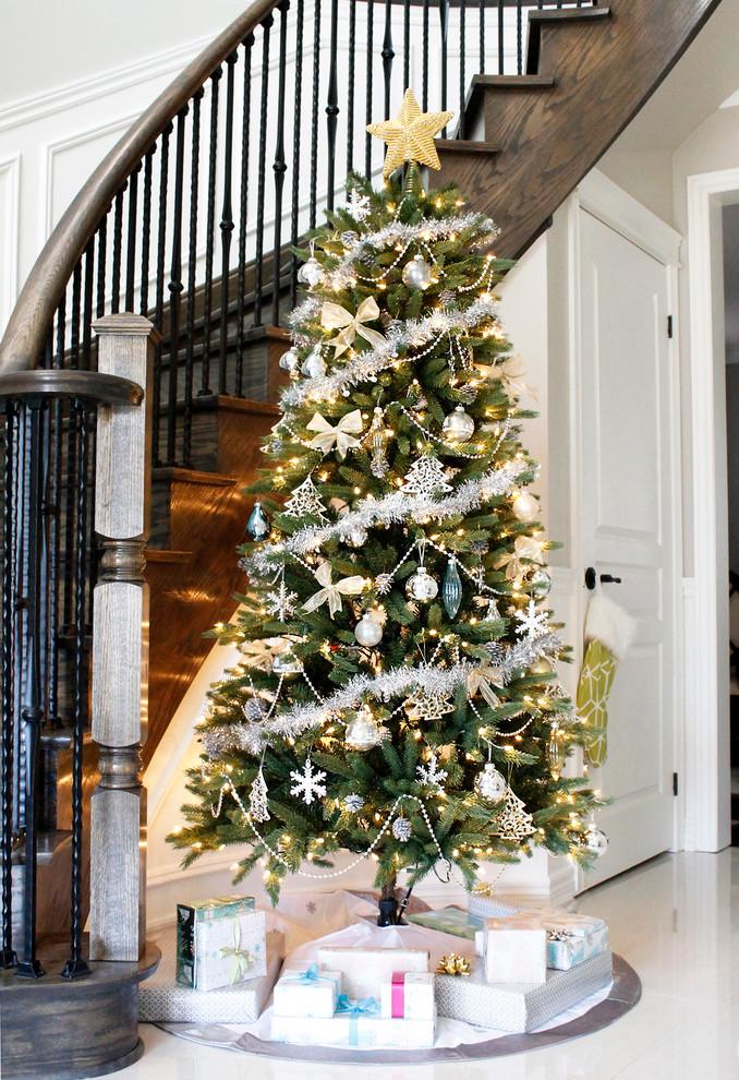 entryway christmas tree decor ideas