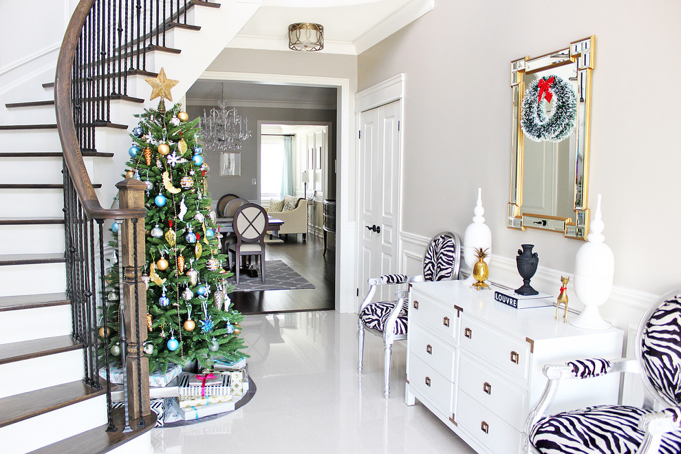 white christmas decor ideas zebra
