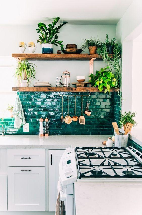 kitchen decor green malachite