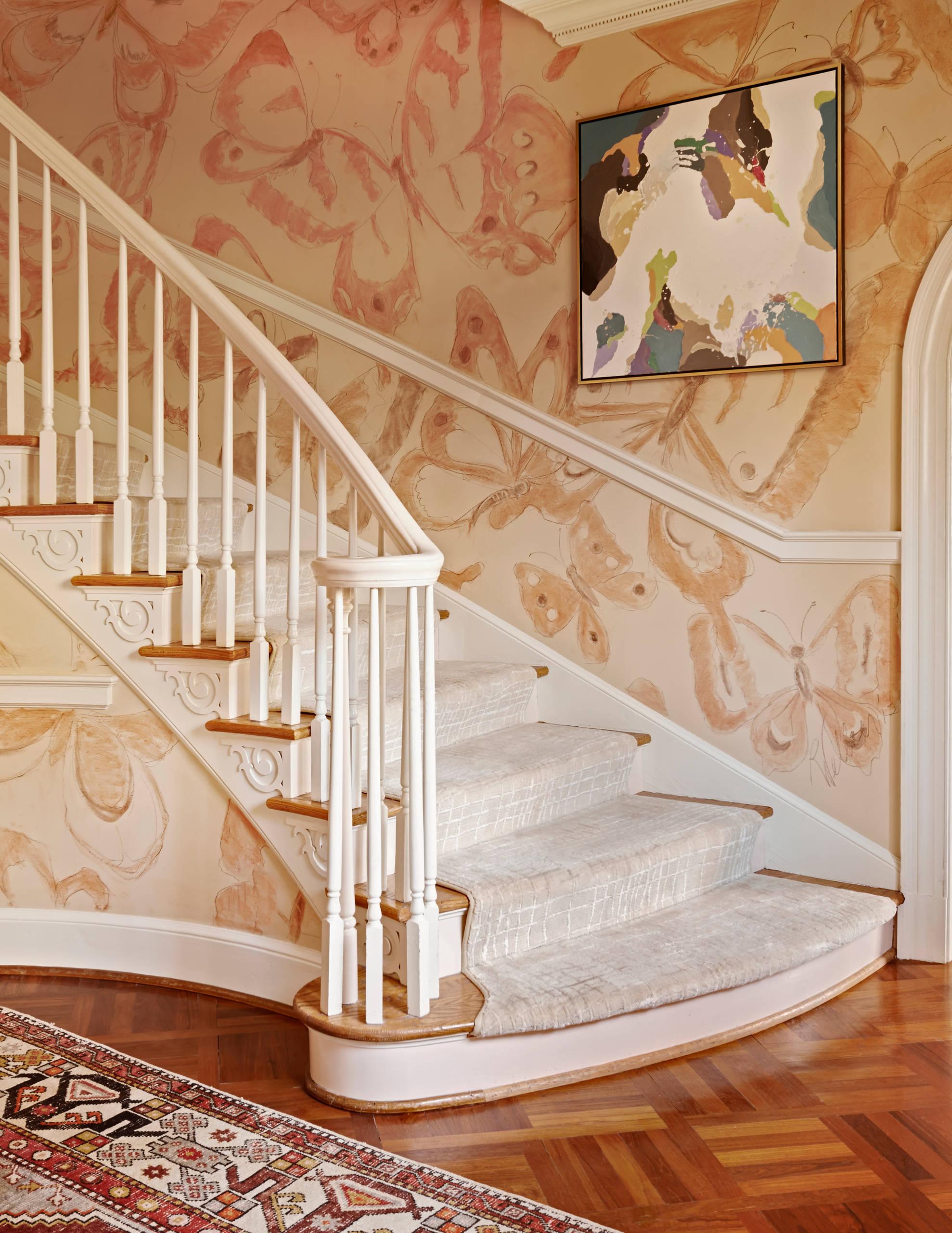 staircase moldings makeover ideas