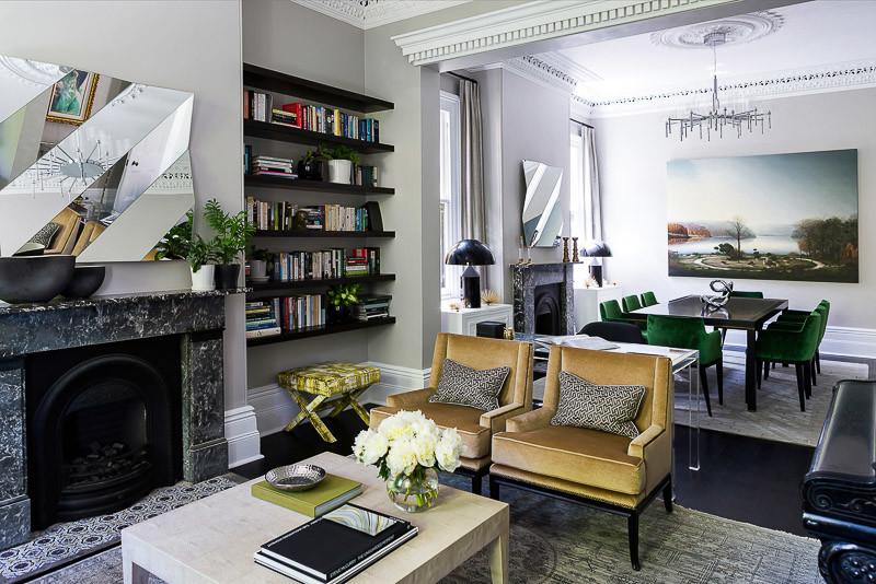 brendan wong living room decor grey walls