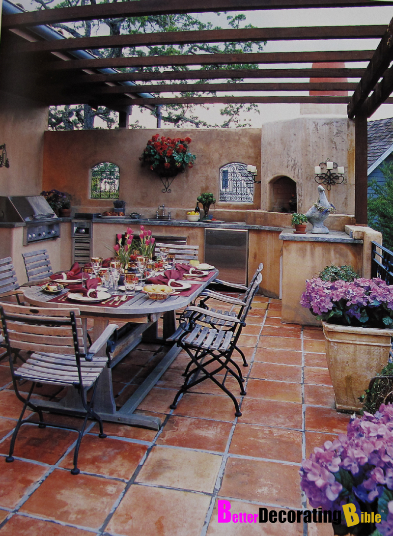 Patio terace decorating better decorating bible for Patio decorating photos
