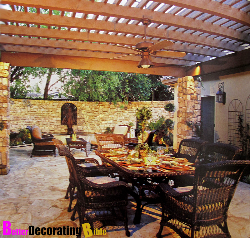 Patio decorating ideas photos interior design decor for Patio accessories ideas