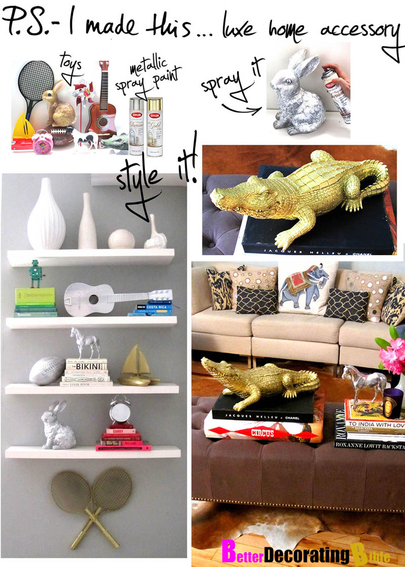 Spray painting gold paint accessories diy ideas better