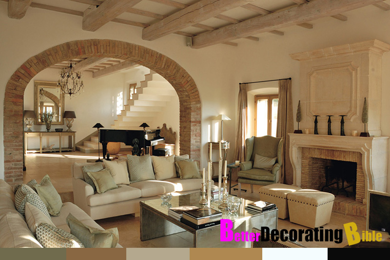 Rustic italian villas in tuscany for Villa interior design living room