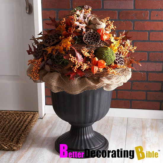 Fall Decoration Fall Urn Decorating Ideas Decoration