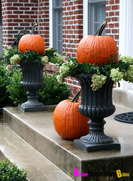 Fall Porch Pumpkin Decorating Ideas