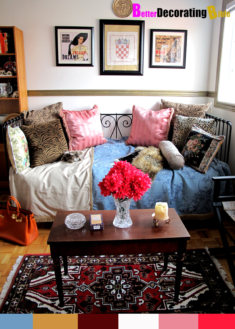 Budget decorating better decorating bible diy show off for Bohemian style daybed