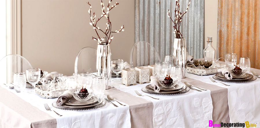 Stylish holiday ideas for table d cor for Dining table decoration ideas home