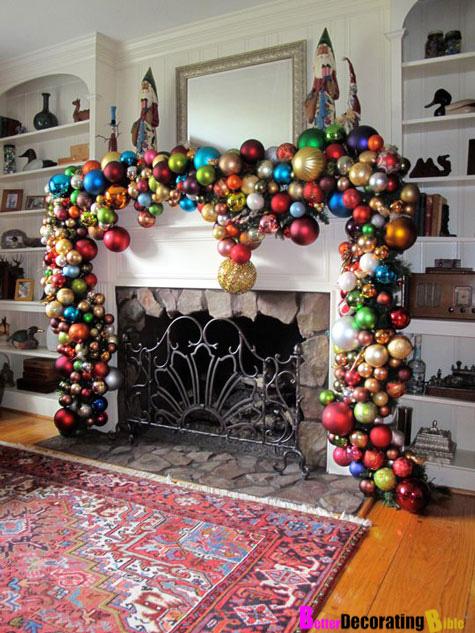 DIY Friday – Easy Christmas Mantel Decorating