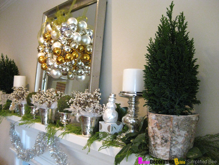 diy friday easy christmas mantel decorating - Christmas Mantel Decor