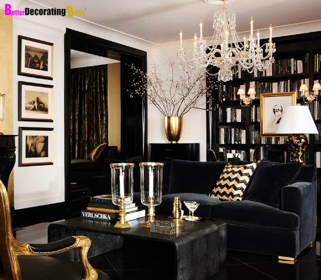 black and white interiors
