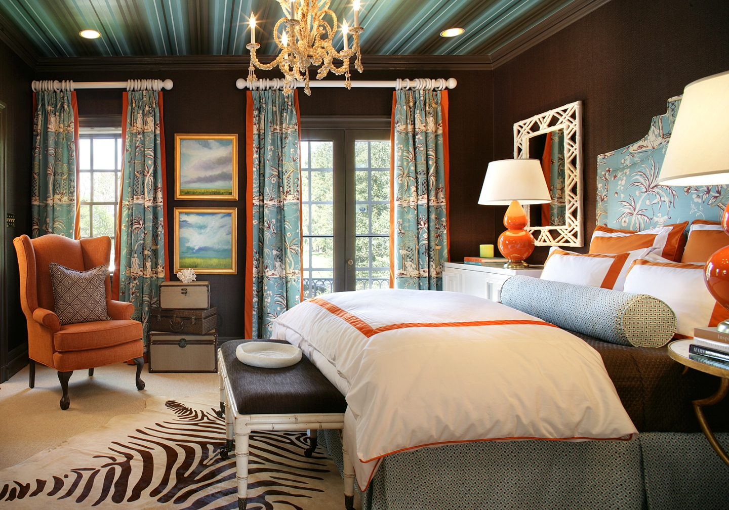 Black And Orange Bedroom black and orange bedroom - home design ideas