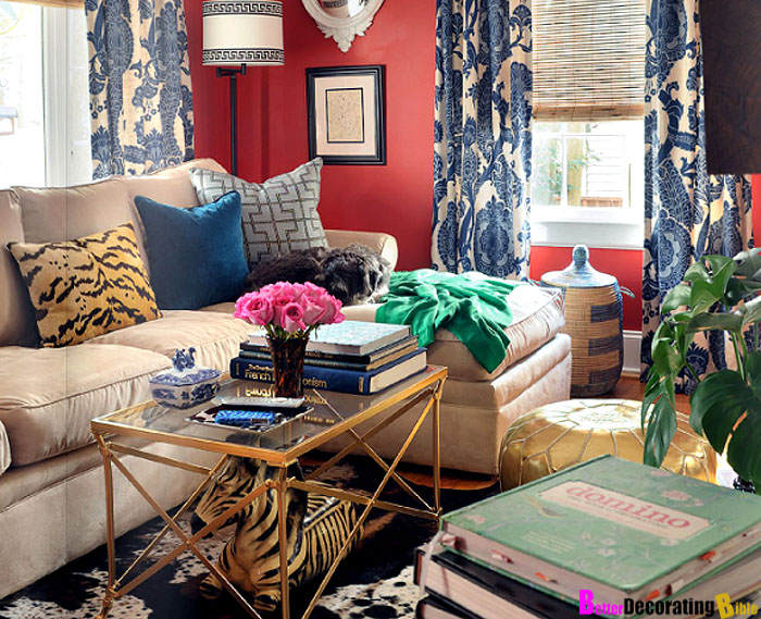 Benedetina Living Rooms Red Zebra