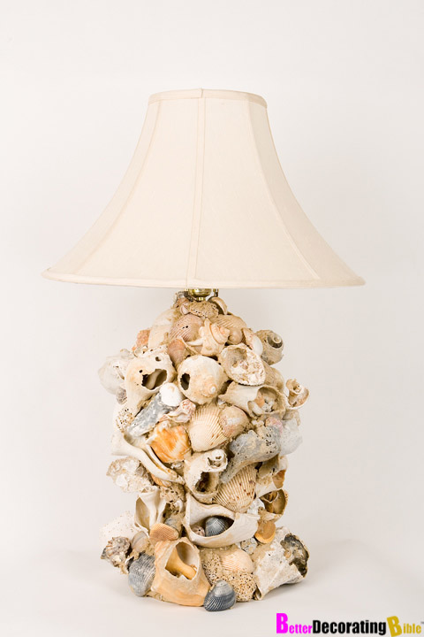 Diy friday chic sea shell lamp diy friday chic sea shell lamp mozeypictures Images