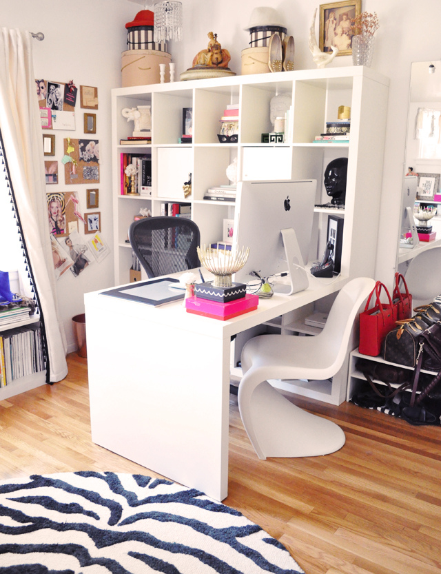 Get to work in style meagan s home office tour for Home office remodel ideas