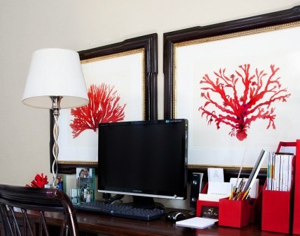 diy friday how to mimic this red coral painting. Black Bedroom Furniture Sets. Home Design Ideas