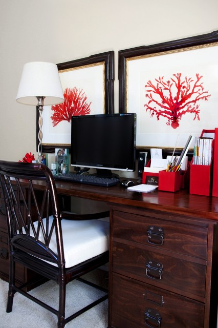 DIY Friday: How to Mimic this Red Coral Painting