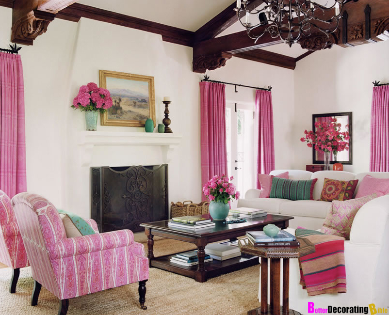 10 amazing pink living room interior design ideas for Better living designs