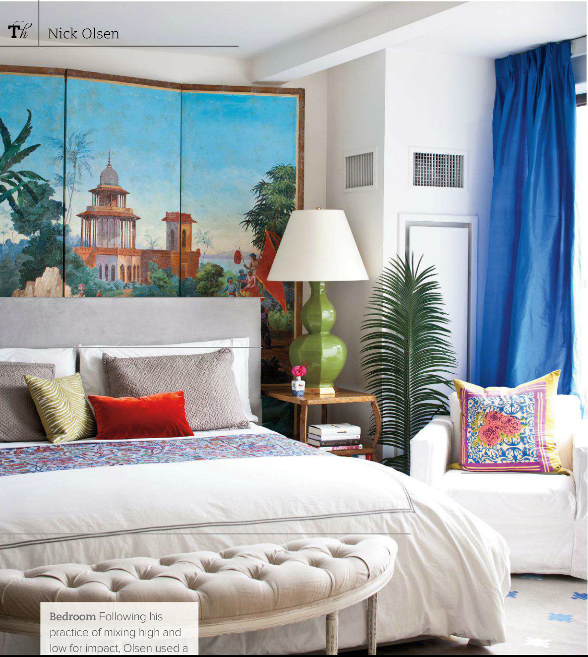 Exotic Dcor for Summer: How to Get Nick Olsen's Tropical Beach Room Look