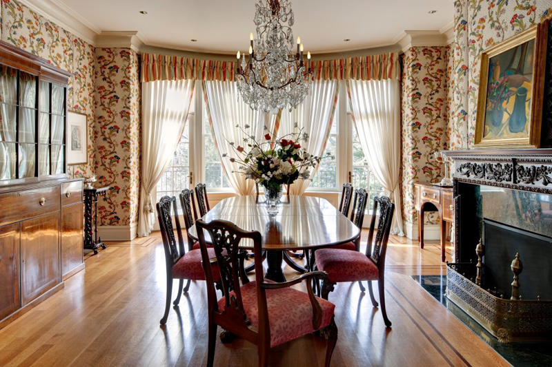 ... new jersey home, makeover, homey look, big Persian carpets, wood
